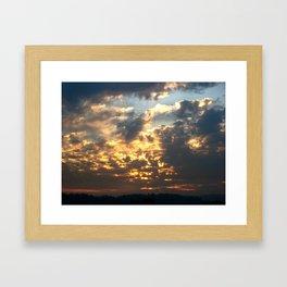 Bruins Sunset Framed Art Print