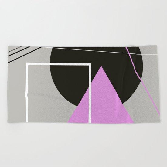 Geometric Landscape Beach Towel