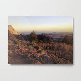 Utah Sunset - Zion Canyon Landscape Photo Metal Print