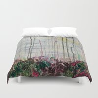 forrest Duvet Covers featuring Spring Forrest by Stephanie Cole CREATIONS