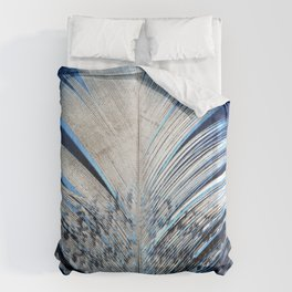 Feather | Feathers | Spiritual | White and Blue Feather | Nature Duvet Cover