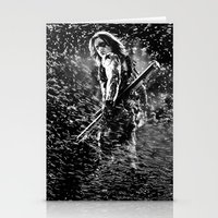winter soldier Stationery Cards featuring Winter Soldier by Mari Vasilescu
