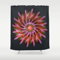 cyberpunk Shower Curtains featuring Falling Bloom by Obvious Warrior