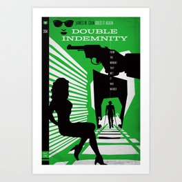 Hardboiled :: Double Indemnity :: James M. Cain Art Print