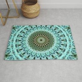 Mandala in light blue tones Rug