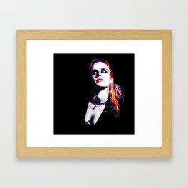 Kristen Stewart - Luminous Punk Glow Framed Art Print
