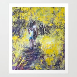 A Walk through the woods Art Print