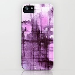 Purple Grid iPhone Case