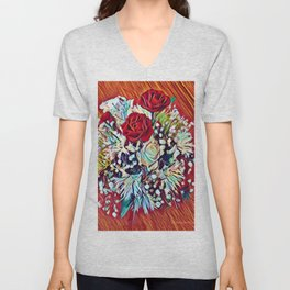 Brighten Your Day Flowers Unisex V-Neck