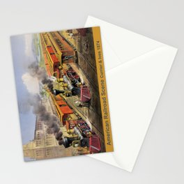 American Railroad Scene (Currier & Ives) Stationery Cards