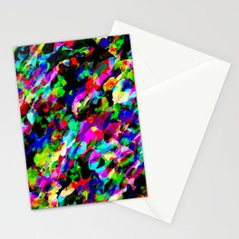 Cartoon Chaos Pattern Stationery Cards