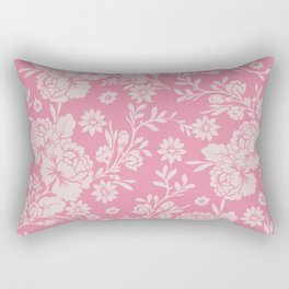 Retro or Boho Style Floral Pattern Rectangular Pillow