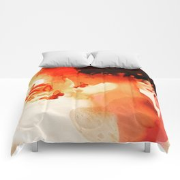 Madame butterfly solo orange  Comforters
