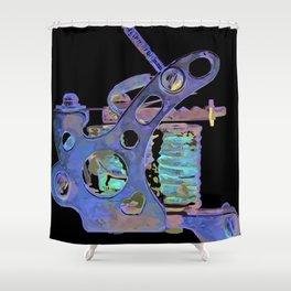 Machine eight Shower Curtain