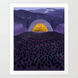 Hollywood Bowl Art Print