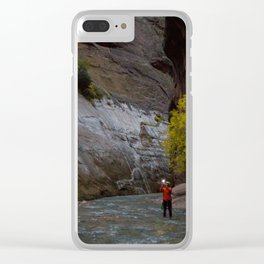 Narrows Photographer Clear iPhone Case
