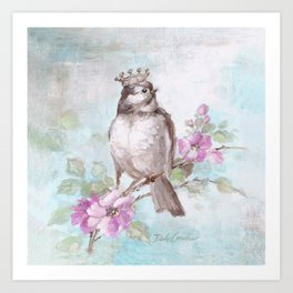 French Crown and Feather II Art Print
