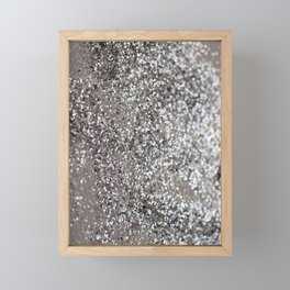Sparkling SILVER Lady Glitter #1 #decor #art #society6 Framed Mini Art Print