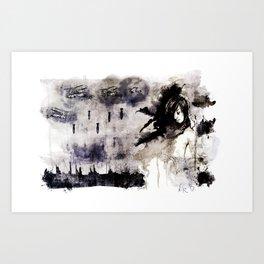 Miseria de los miserables (color version) Art Print