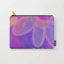 FIORI bright jumbo floral abstract in vivid pink purple blue Carry-All Pouch