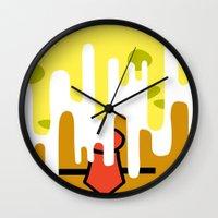 spongebob Wall Clocks featuring Spongebob SquareDrip by JessicaSzymanski