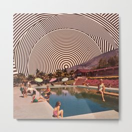 Illusionary Pool Metal Print