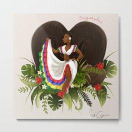seychelles sega dancer Metal Print