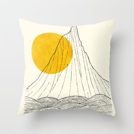 The tall cliff by the sea Throw Pillow