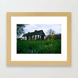 Dilapidated Farm and Mustard Seed Framed Art Print