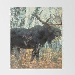 Huge Moose Throw Blanket