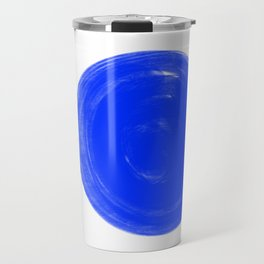 Blue and black dots Travel Mug