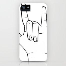 Set of 3 Prints Peace Sign Shaka OK printable wall art, hang loose hand gestures mahalo dude iPhone Case