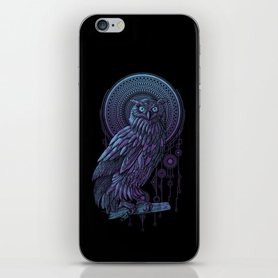 Owl Nouveau II iPhone & iPod Skin