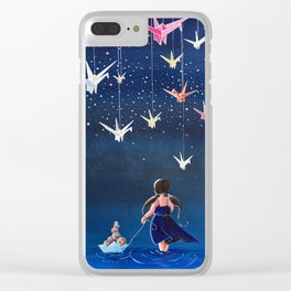 Origami Dream Clear iPhone Case