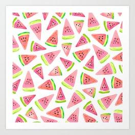 Watermelons! Art Print