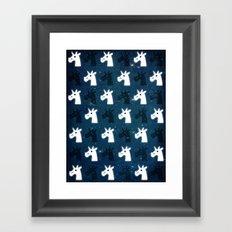 Stars Unicorn Pattern Framed Art Print