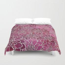 Dahlia Flower Pattern 2 Duvet Cover