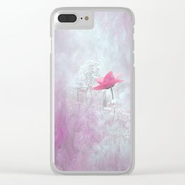 Pink Flower Blossom Nature Design Clear iPhone Case