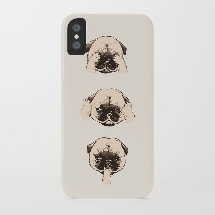 No Evil Pug iPhone Case
