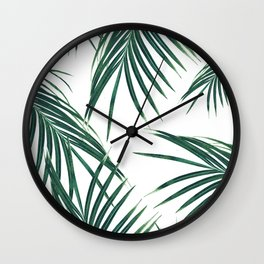 Green Palm Leaves Dream #2 #tropical #decor #art #society6 Wall Clock