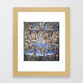 Michelangelo Last Judgement Framed Art Print