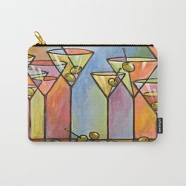 Martini Bar ... Abstract alcohol lounge bar kitchen art Carry-All Pouch
