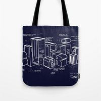 blueprint Tote Bags featuring Blueprint by Matthew McKenna
