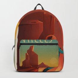 SpaceX Travel Poster: Valles Marineris, Mars Backpack
