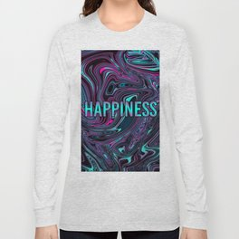 "ABSTRACT LIQUIDS HAPPINESS ""51"" Long Sleeve T-shirt"