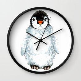 Molly the baby penguin Wall Clock