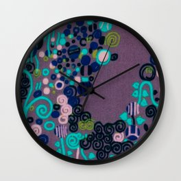 "Gustav Klimt ""Textile design - Model 2"" edited (1) Wall Clock"