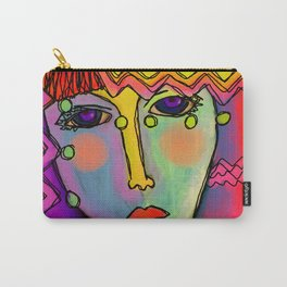 Colorful Abstract Digital Painting of a Woman Carry-All Pouch