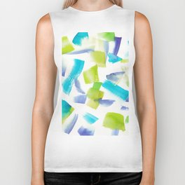 180719 Koh-I-Noor Watercolour Abstract 20 | Watercolor Brush Strokes Biker Tank