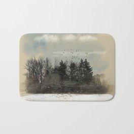 Winter, snow, frosty day. Bath Mat